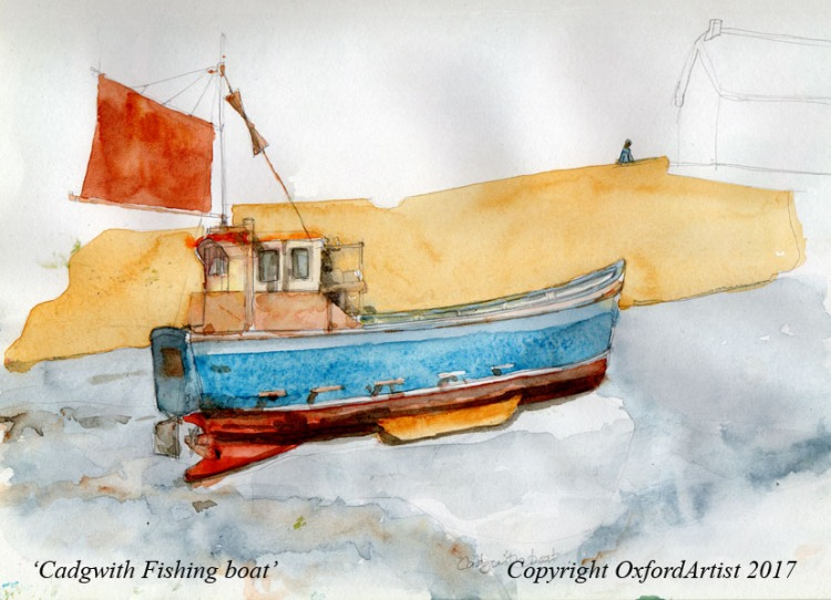 Cadgwith Boat sketch