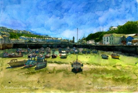 Porthleven harbour 1c 6 x9 cc
