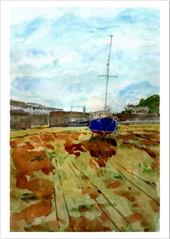 Porthleven harbour 2 c 6 x 8