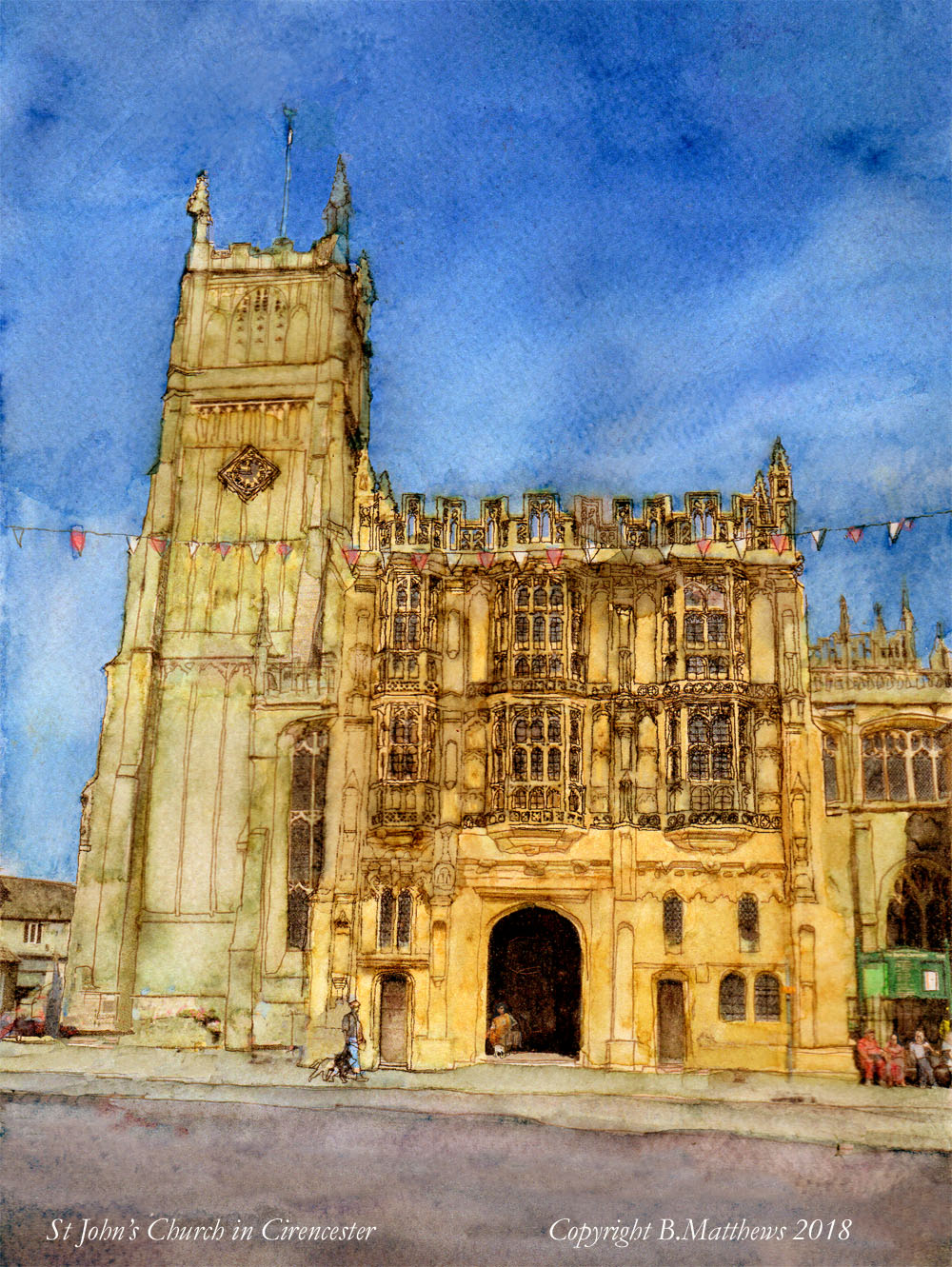 Cirencester church 2d 10 x13 cc