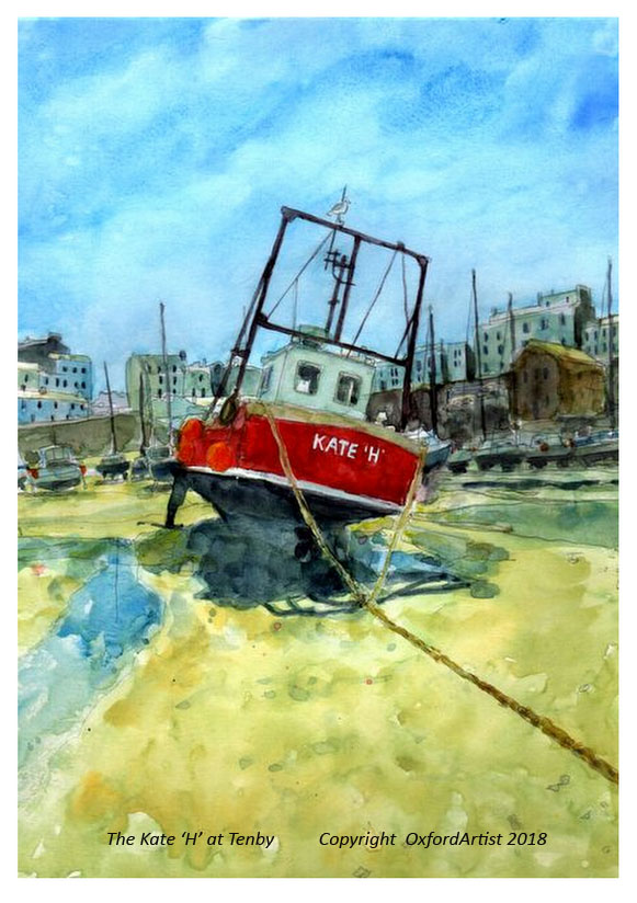 The Kate 'H' at Tenby 6 x 8 cc